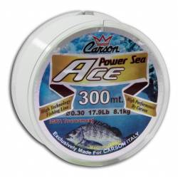Monofilo da Pesca Surfcasting Bolentino - Carson Power Sea 300Mt
