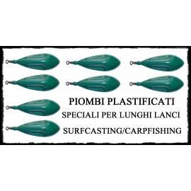 Piombi da Pesca Plastificati con Girella - Trilobe