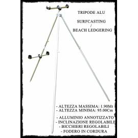 Tripode Alu Surfcasting / Beachledgering 1.90m