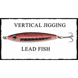Lead Fish Blu Rosso Vetrical Jigging