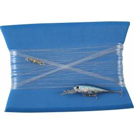 lenza traina minnow artificiale blu argento