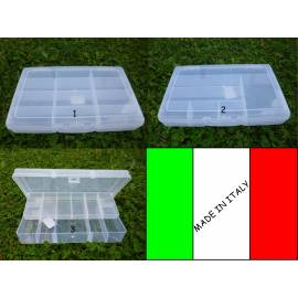 Scatola in plastica porta accessori / esche artificiali da pesca