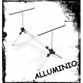 rod pod in alluminio per tre canne