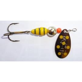 cucchiaino heron vespa paletta argento puntini gialli