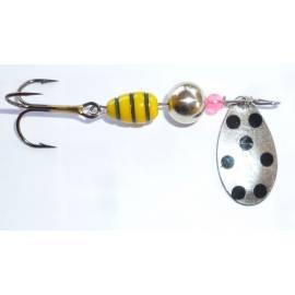 cucchiaino heron vespa paletta argento puntini neri