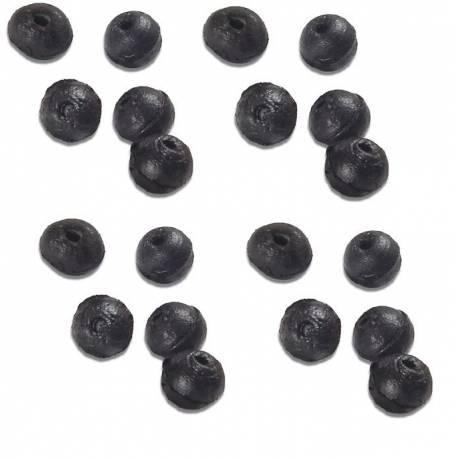 20 pallini rotondi salva nodo gomma