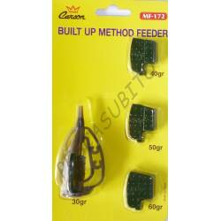 built method feeder kit pasturatore 4 pesi intercambiabili carpfishing ledgering