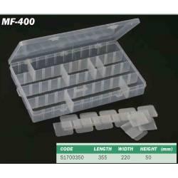 cassetta da pesca con scomparti regolabili mf400