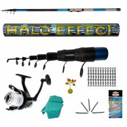 kit canna teleregolabile 4m mulinello gibernetta accessori