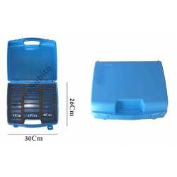 valigetta con scomparti porta avvolgilenza