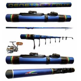 kit trota lago canna genetic 12/16g + mulinello jf