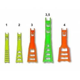 scaletta regolabile aggancio elastico