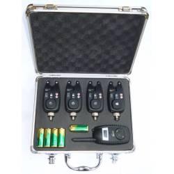 kit valigetta 4 segnalatori + centralina carpfishing