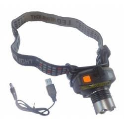 lampada da tesa potente con zoom sensore di movimento e carica batteria usb