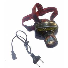 lampada da tesa potente con zoom e carica batteria 220v