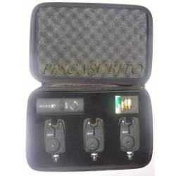 kit valigetta 3 segnalatori + centralina carpfishing