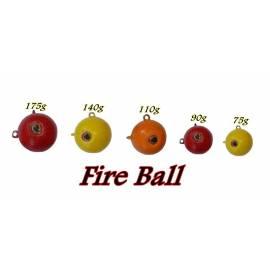 kit 5 piombi fireball 75g - 90g - 110g - 140g - 175g pesca siluro