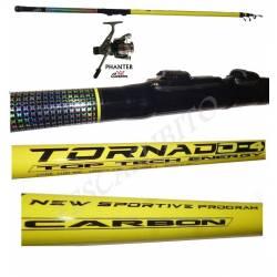 Kit Economico Canna da Pesca 4 Metri + Mulinello 1000 - Tornado + Phanter
