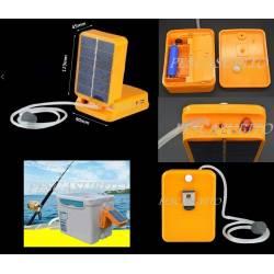 Ossigenatore da pesca con pannello solare presa USB - Areatore esche vive
