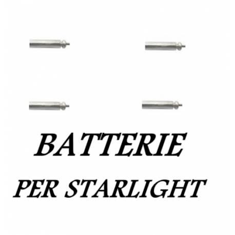 4 Batterie a litio PL90 per Starlight a led