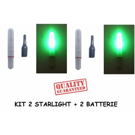 Kit 2 Starlight con led elettronici per galleggiante da pesca