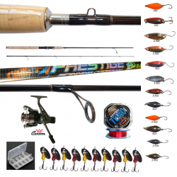 Kit Pesca Alla Trota A Spinning Canna Prestige + Mulinello + Spoon + Accessori
