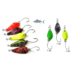 Kit 8 micro ondulanti spoon trota trout game