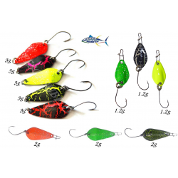 Kit 11 micro ondulanti spoon trota trout game