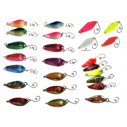 Kit 24 Spoon Ondulanti Pesca Trota Trout Area Game
