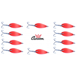 Kit 10 Spoon 5g Ondulanti Pesca Trota Trout Area Game - Carson Arancio Fluo