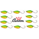 Kit 10 Spoon 3g Ondulanti Pesca Trota Trout Area Game - Carson Tiger