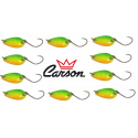 Kit 10 Spoon 2g Ondulanti Pesca Trota Trout Area Game - Carson Tiger