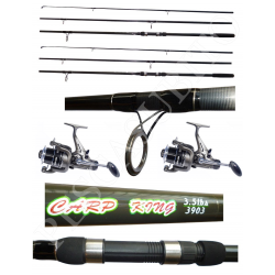 Kit 2 Canne Carpfishing 3 sezioni + Mulinelli / Globe Fishing Carp King Niged