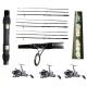 Kit 3 Canne Carpfishing 3 sezioni + Mulinelli / Globe Fishing Carp King Niged