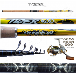 Kit Canna Pesca Inglese Bombarda + Mulinello - Globe Fishing Tiger Xc