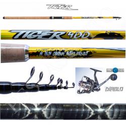 Kit Canna Pesca Inglese Bombarda + Mulinello - Globe Fishing Tiger Diablo