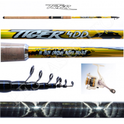 Kit Canna Pesca Inglese Bombarda + Mulinello - Globe Fishing Tiger Kaya