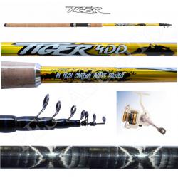 Kit Canna Pesca Inglese Bombarda + Mulinello - Globe Fishing Tiger Kaya