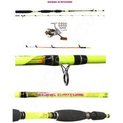 Kit Canna Pesca Seppia Calamaro + Mulinello - Globe Fishing Eging Capture Xc