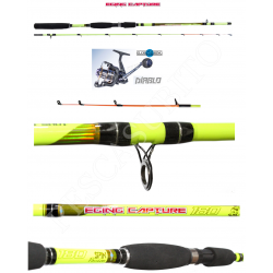Kit Canna Pesca Seppia Calamaro + Mulinello - Globe Fishing Eging Capture Diablo