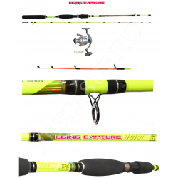Kit Canna Pesca Seppia Calamaro + Mulinello - Globe Fishing Eging Capture Teben