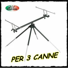 rod pod 3 canne deluxe