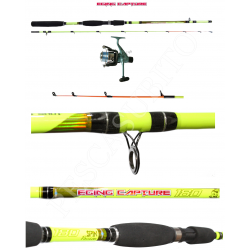 Kit Canna Pesca Seppia Calamaro + Mulinello - Globe Fishing Eging Capture Sword