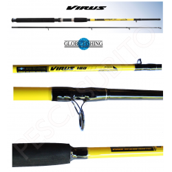 Canna da Pesca Spinning - Globe Fishing Virus 1,80Mt 30/60Gr