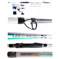 Kit Pesca Bolentino Canna + Mulinello - 3,40Mt 250Gr - Globe Fishing Wazika Syncro