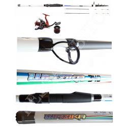 Kit Pesca Bolentino Canna + Mulinello - 3,40Mt 250Gr - Globe Fishing Wazika Anevay