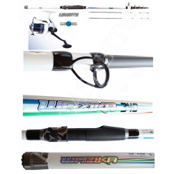 Kit Pesca Bolentino Canna + Mulinello - 3,40Mt 250Gr - Globe Fishing Wazika Levante