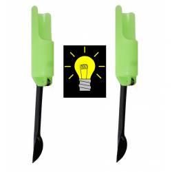 Kit 2 Poggiacanna Fluorescenti da Pesca a Fondo