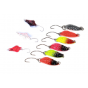 Kit 9 Spoon 3Gr Pesca Spinning Trota Trout Area Game