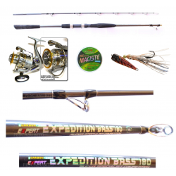 Kit Vertical Jigging Canna Expedition Bass 1.80Mt + Mulinello Talent 6000 + Inchiku + Treccia